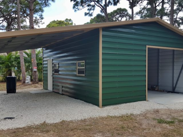 18x25 custom lap siding building