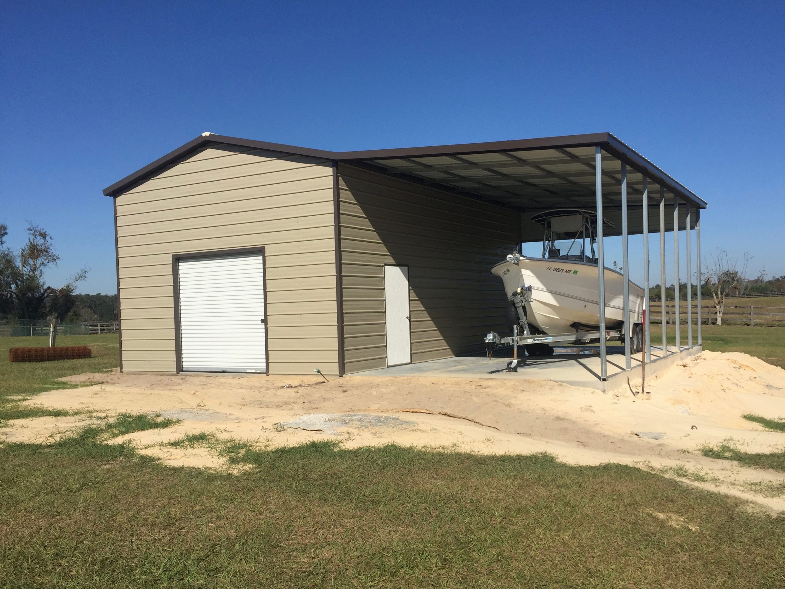 20x30 Metal Carport : Custom steel building central florida