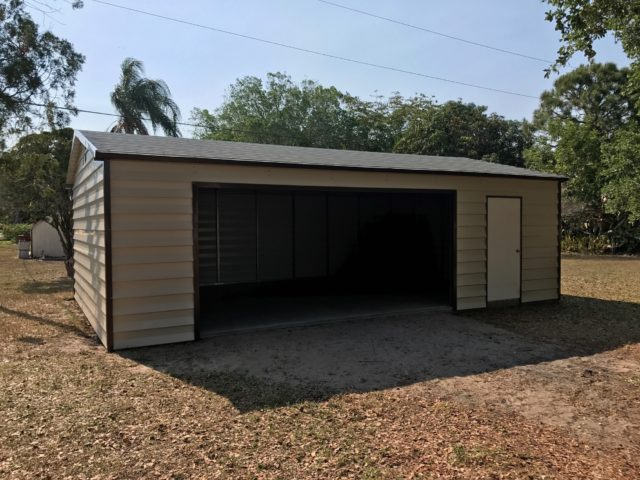 20x30 custom lap siding garage