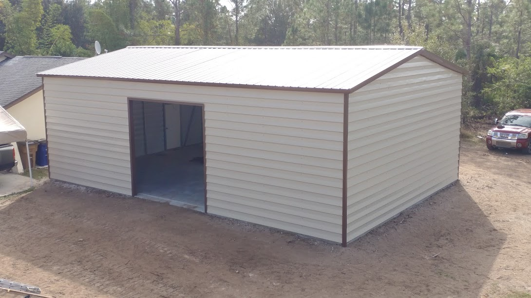 24x35 Custom Lap Siding Building Central Florida Steel