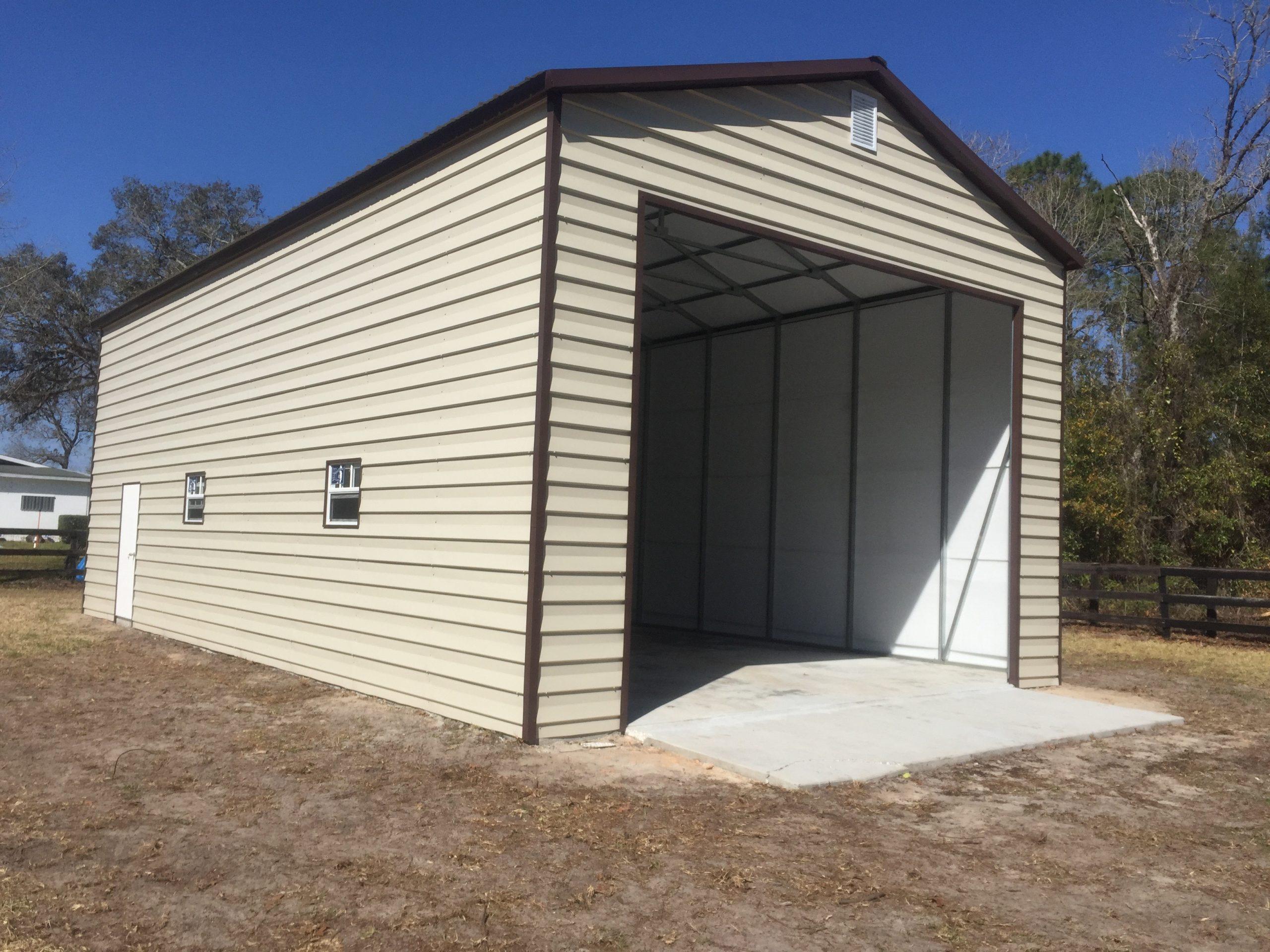 24x50 custom lap siding garage