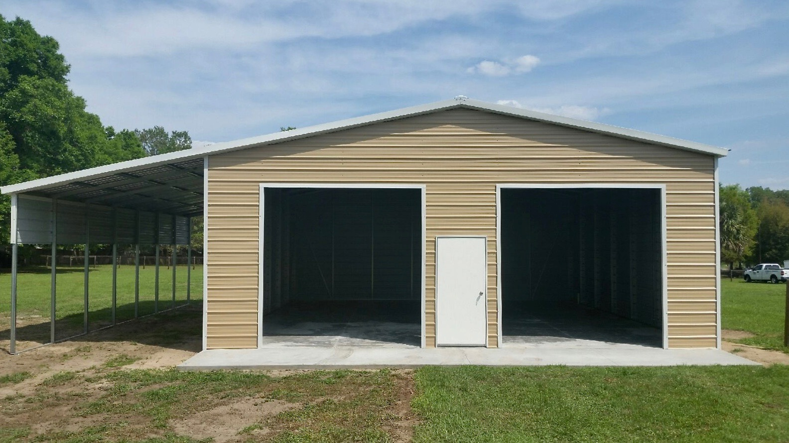 30x50 Custom Steel Building Central Florida Steel