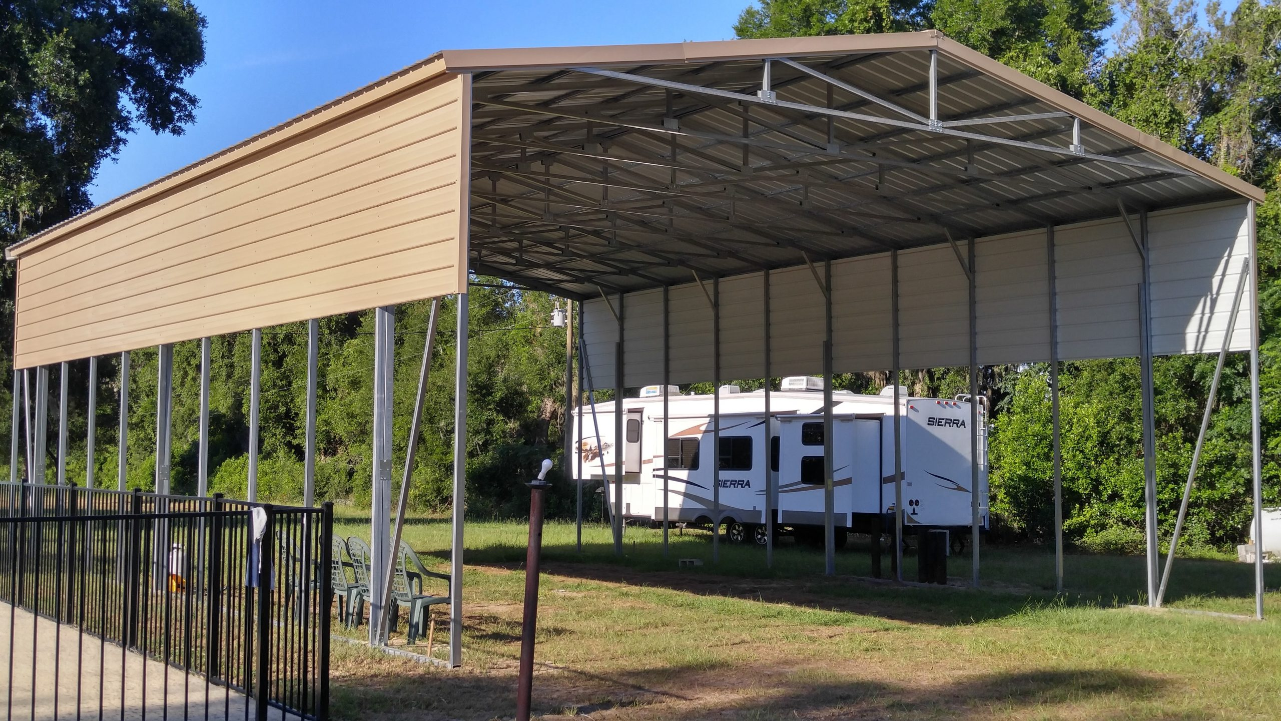 30x50 Rv Cover Central Florida Steel Buildings And Supply