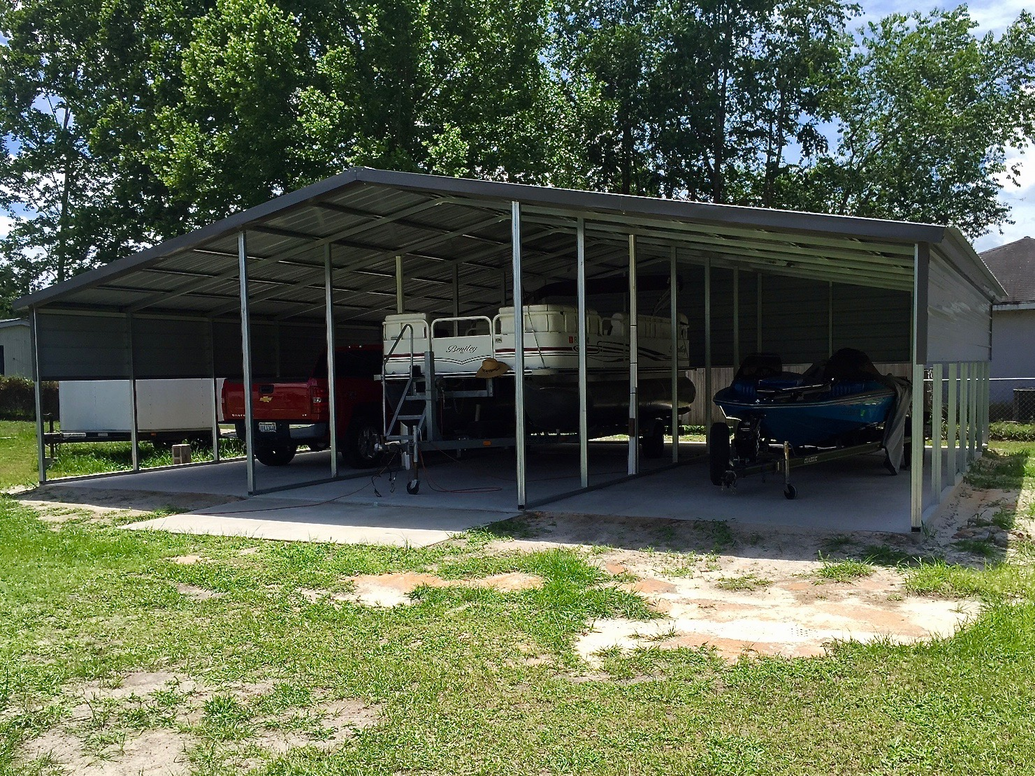 36x30 3 bay carport central florida steel buildings and for Carports and garages