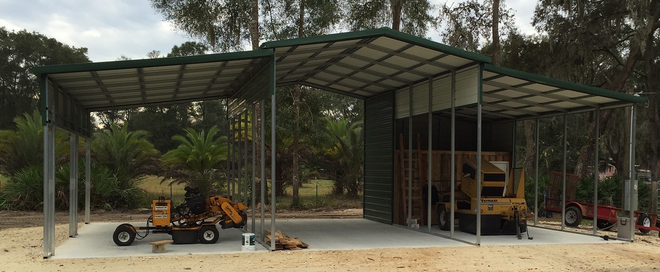 42x30 3-Bay Custom Carport - Central Florida Steel Buildings and Supply