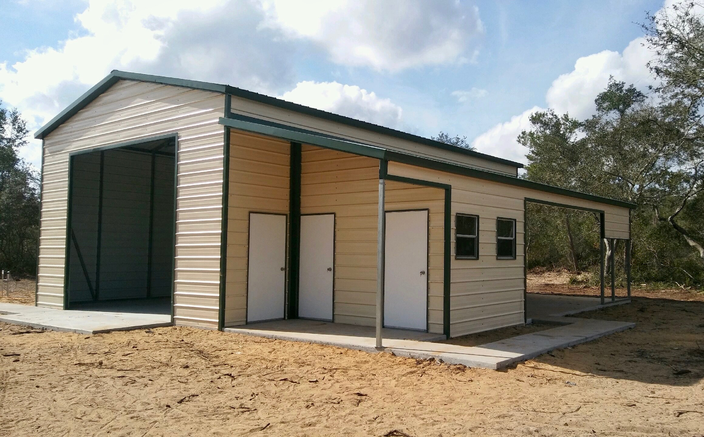 30x40 Custom Steel Building Central Florida Steel