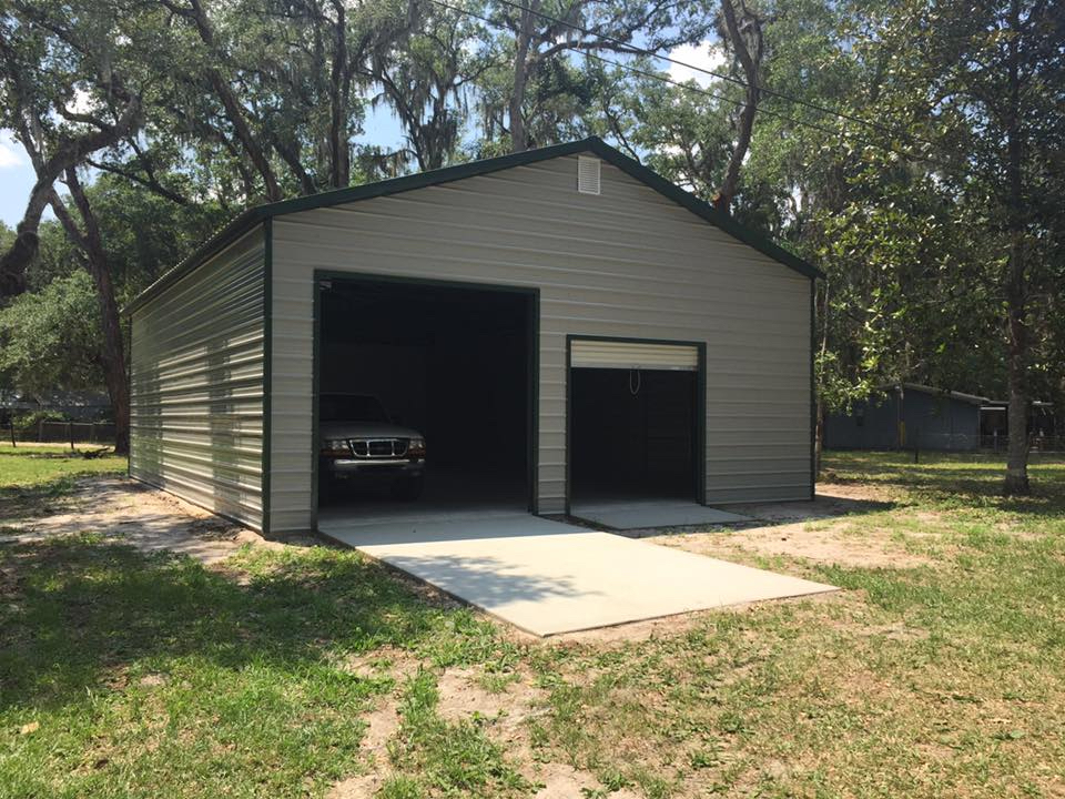30x40 Steel Building Central Florida Steel Buildings And