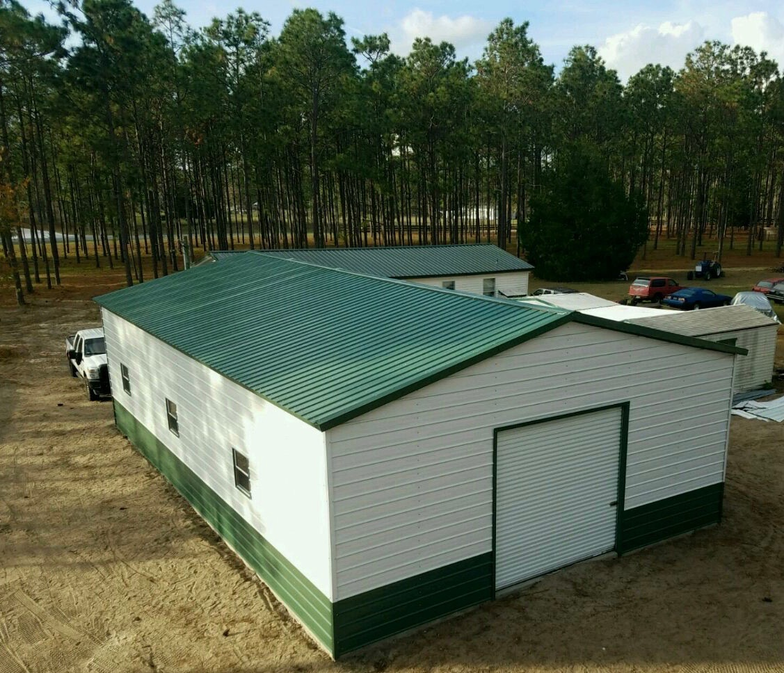 30x50 Steel Building Central Florida Steel Buildings And Supply