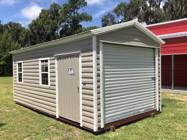 10 by 20 shed boxed beige