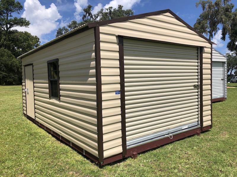 112 by 20 shed beige